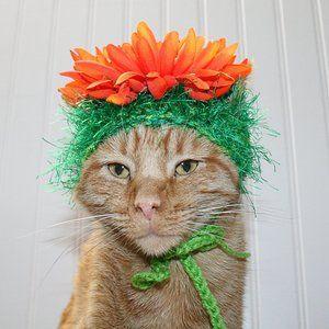 HANDMADE Crochet Hair Wig Flower Child Dog Cat Hat